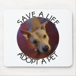 Adopt a Pet Save a Life | Mixed Breed Rescue Mutt Mouse Pad