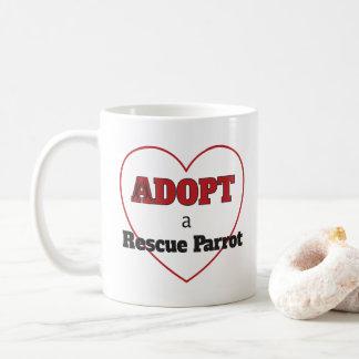 Adopt a Rescue Parrot - Heart Coffee Mug