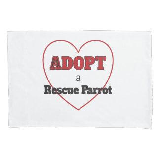 Adopt a Rescue Parrot - Heart Pillowcase