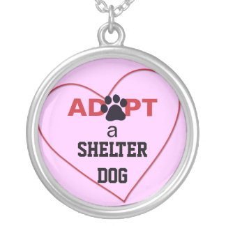 Adopt a Shelter Dog Round Pendant Necklace