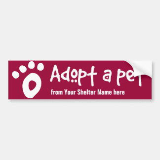Adopt a Shelter Pet Bumper Sticker