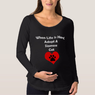 Adopt A Siamese Cat Maternity T-Shirt