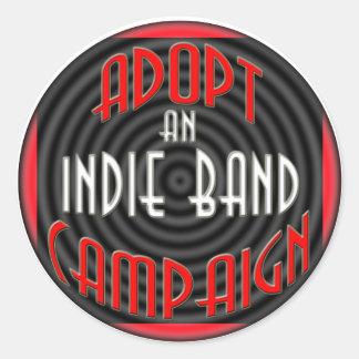 Adopt An Indie Band Sticker