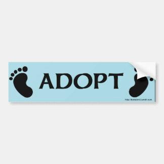 ADOPT bumper sticker with baby feet
