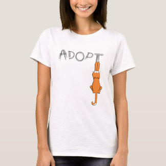 Adopt Cats Rusty Dark Claw Marks T-Shirt