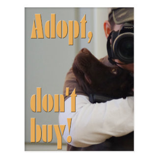 Adopt, don't buy! - fuxart postcard