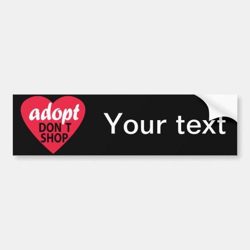 Adopt Dont Shop Bumper Stickers