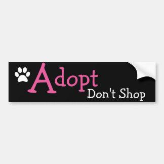 Adopt Don't Shop Cute Bumper Sticker