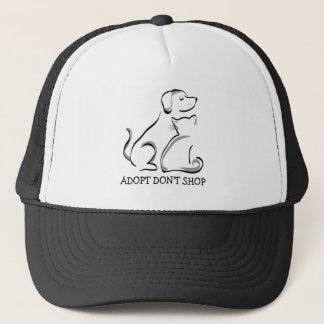 Adopt Don't Shop Dog Cat Trucker Hat