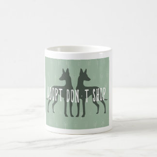 """Adopt, don't shop"" mug"