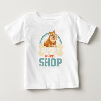 Adopt Don't Shop Pro Pet Adoption Tee Pomeranian