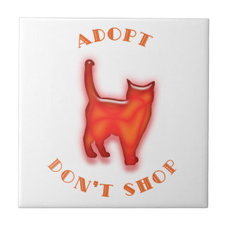 Adopt Don't Shop Small Square Tile