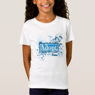 Adopt {James 1:27} Girls Baby Doll Fitted Tee