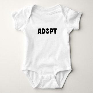 Adopt Paw Print Baby Bodysuit