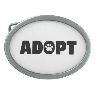 Adopt Paw Print Belt Buckle