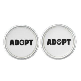 Adopt Paw Print Cufflinks