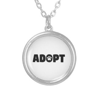 Adopt Paw Print Necklace