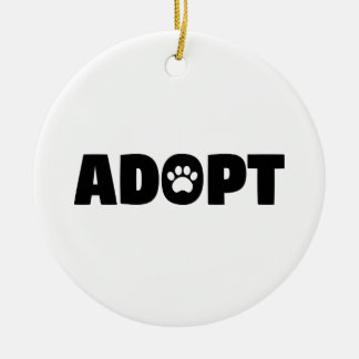 Adopt Paw Print Ornament
