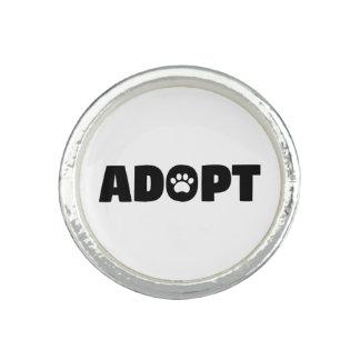 Adopt Paw Print Ring