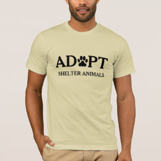 """Adopt Shelter Animals"" T-Shirt"