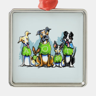 Adopt Shelter Dogs Green Tees Think Adoption Metal Ornament