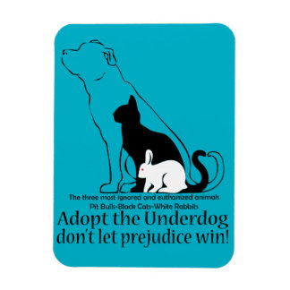 Adopt the Underdog..don't let prejudice win! Magnet