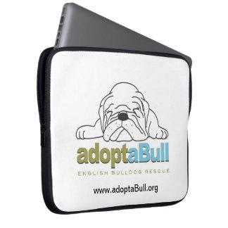 adoptaBull english bulldog custom laptop case Computer Sleeves