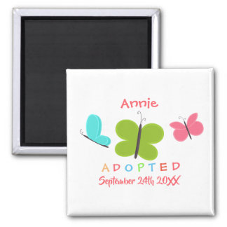Adopted Butterfly Adoption - Custom Name Magnet