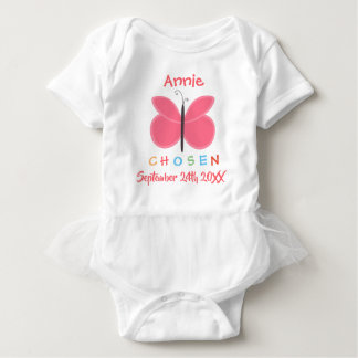 Adopted Butterfly Chosen Adoption - Custom Name Baby Bodysuit