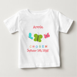 Adopted Butterfly Chosen Adoption - Custom Name Baby T-Shirt