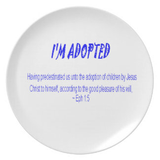 Adopted by Christ Plate