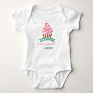 Adopted Cupcake - Custom Name Date Baby Bodysuit