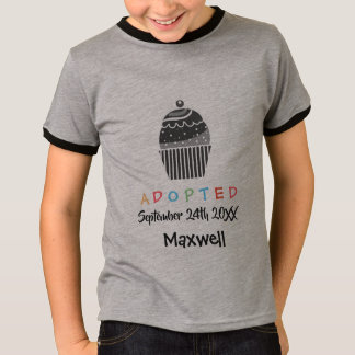 Adopted Cupcake - Custom Name Date T-Shirt