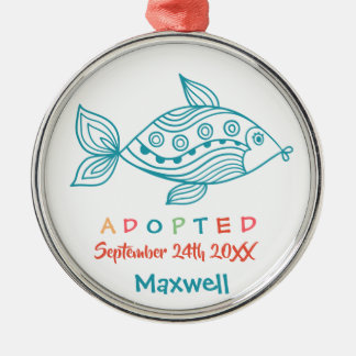 Adopted from Foster Care Fish - Custom Name Metal Ornament