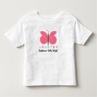Adopted Pink Butterfly - Custom Date Shirt