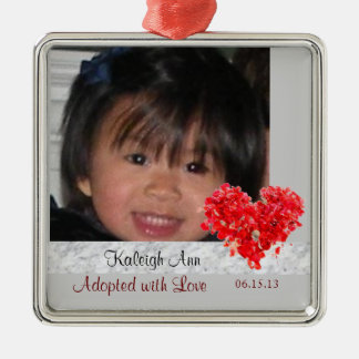 Adopted with Love Photo Ornament