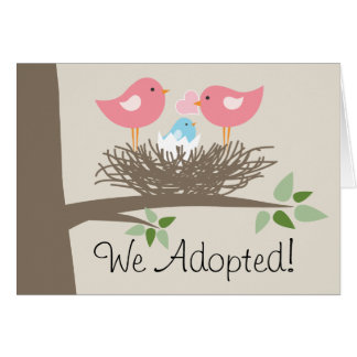 Adoption Announcement for Gay Couple - Bird's Nest