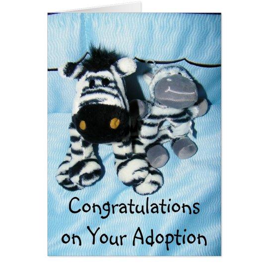 """ADOPTION"" CONGRATULATIONS CARD"