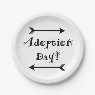 Adoption Day! Foster/adopt Design Paper Plate