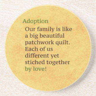 Adoption is a Patchwork Coaster