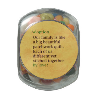 Adoption is a Patchwork Glass Candy Jar