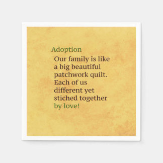 Adoption is a Patchwork Paper Napkin