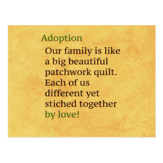Adoption is a Patchwork Postcard