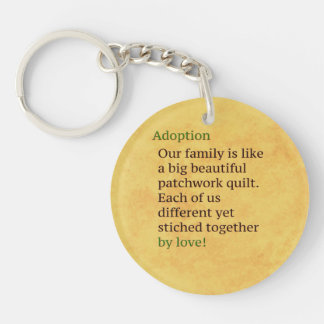 Adoption is a Patchwork Single-Sided Round Acrylic Key Ring