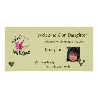 Adoption Love Blossoms Photo Card