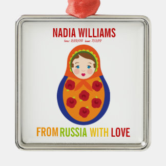 Adoption Ornament Russian Matryoshka Keepsake