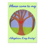 Adoption Tree Adoption Day Party invitation 13 Cm X 18 Cm Invitation Card