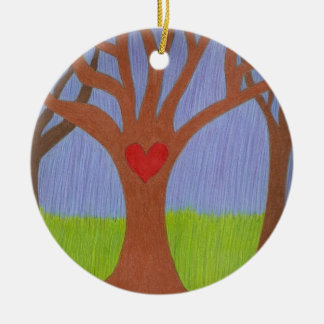 Adoption Tree Round Ceramic Decoration