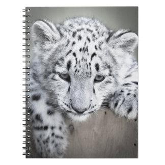 Adorabe Snow Leopard Cub Notebook