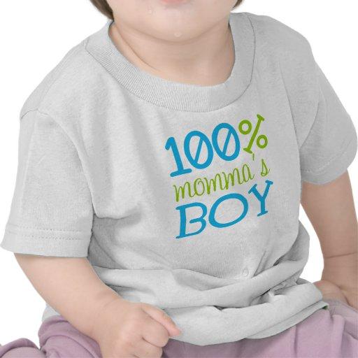 "Adorable ""100% Momma's Boy"" T-Shirt"